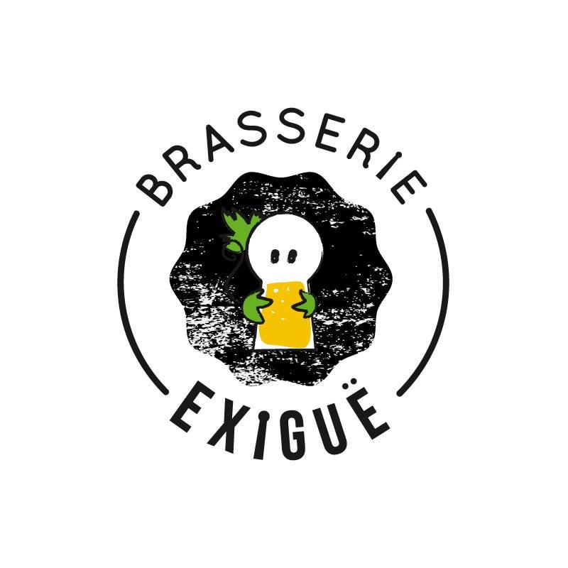 creation du logo de la brasserie exigue - microbrasserie à la gorgue