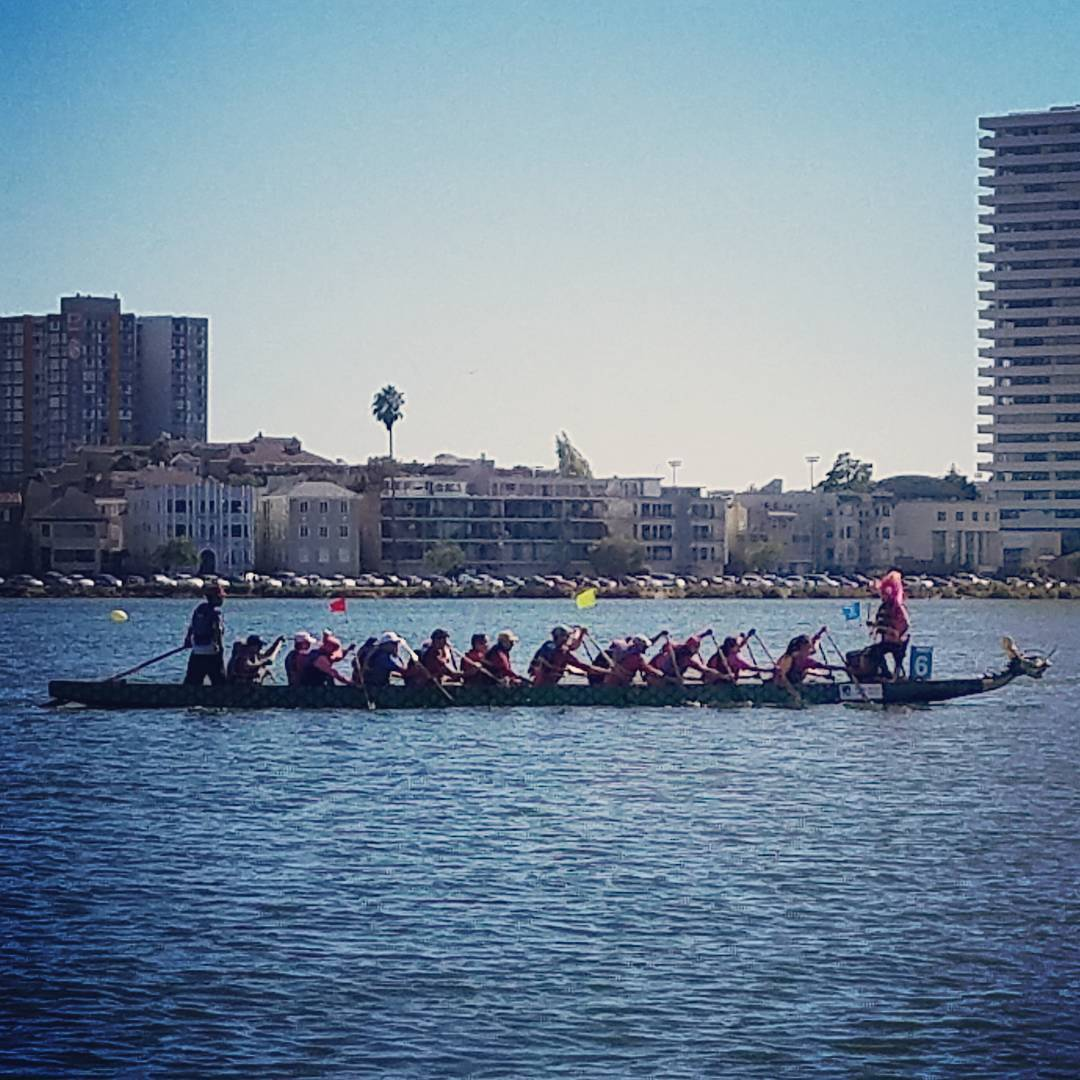 Dragon boat races on the lake today lakemerritt oakland dragonboathellip