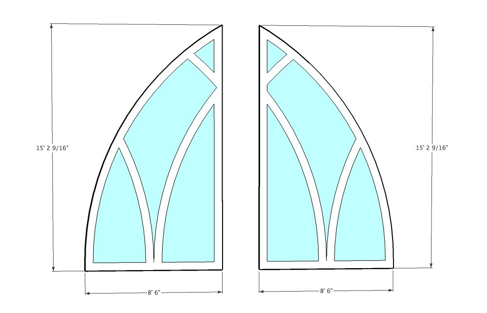 Plans for Easter 2015 Stained glass windows
