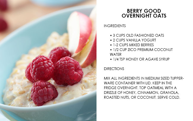 Berry Overnight Oats Recipe