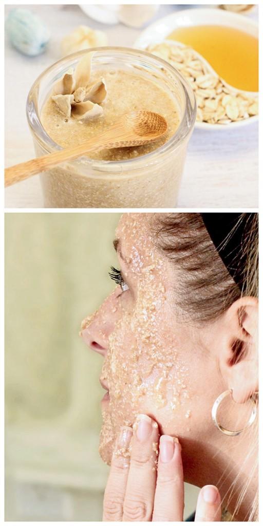 oatmeal hone scrub
