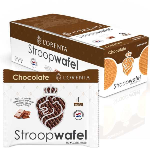 1-chocolate-single-stroopwafel-www Lorentanuts Com Stroopwafel