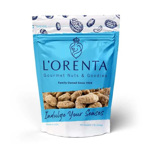 Cinnamon-pecans-v1-1-blue-bags-front-view-www Lorentanuts Com