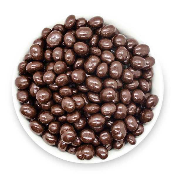 Dark-chocolate-espresso-beans-bowl-top-view-www Lorentanuts Com Protein Punch