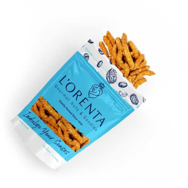 Sesame-sticks-1-blue-bags-above-view-www Lorentanuts Com Jelly Belly 49 Flavor
