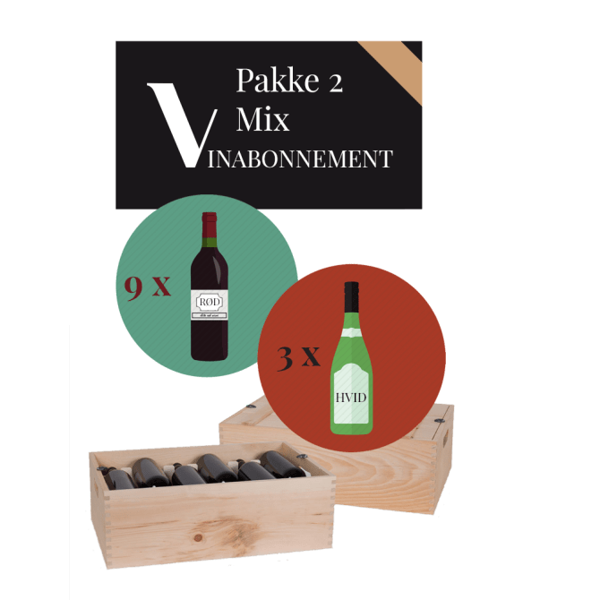 Vinabonnement: Pakke 2 - Mix