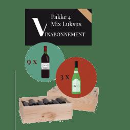 Vinabonnement: Pakke 4 - Mix Luksus