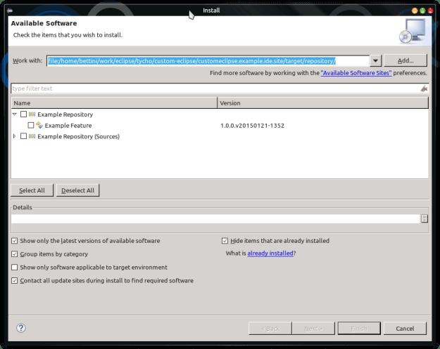 custom ide install new software 3