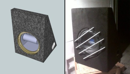 Custom design subwoofer box