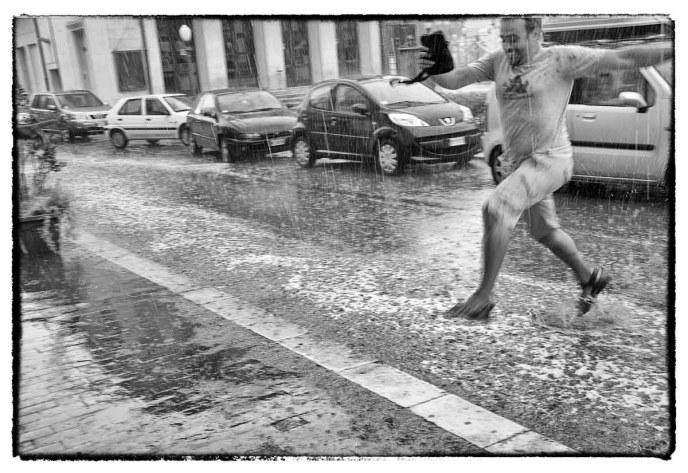 Pioggia su Scicli, Sicilia