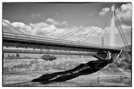 Visa del ponte all'Indiano dall'Isolotto