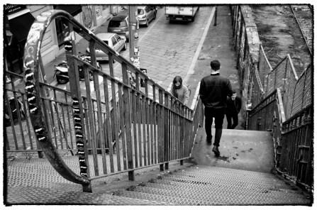 La passerella Verso Via Tortona