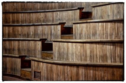 Sabbioneta - Teatro all'Antica - dettaglio spalti