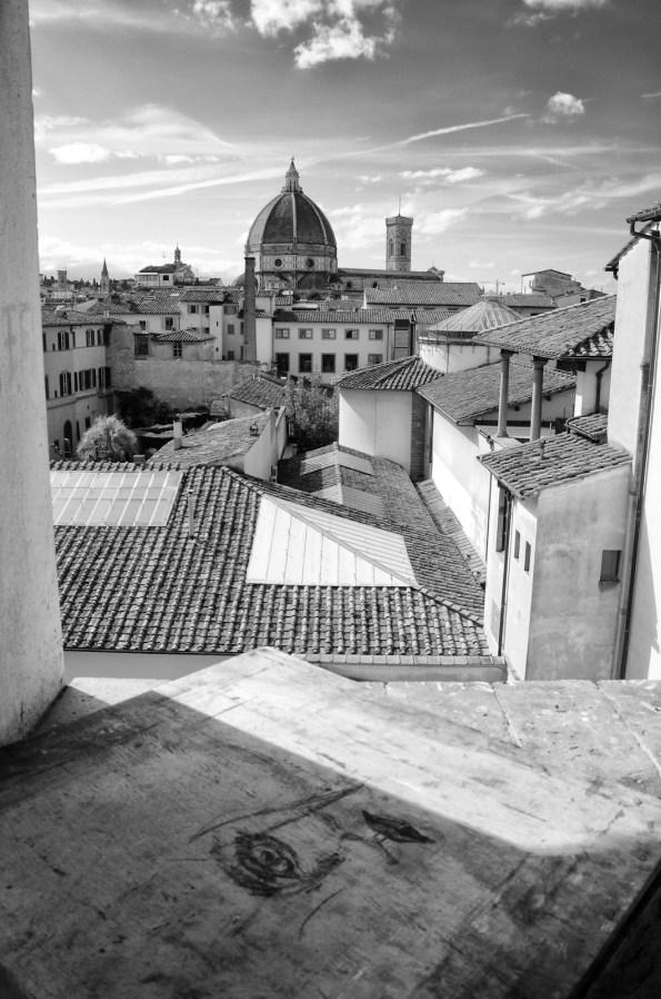 Vista da una delle finestre, verso la Cupola del Brunelleschi