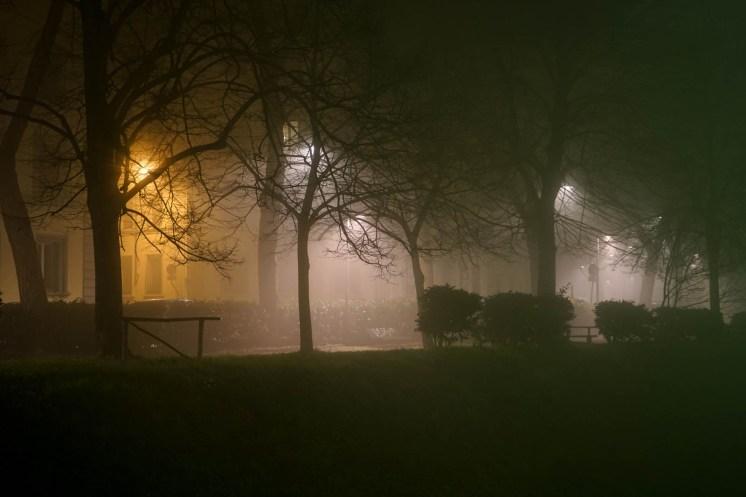Quartiere le cure con Nebbia di Notte - Firenze-2