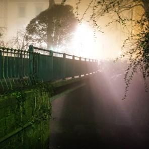 Quartiere le cure con Nebbia di Notte - Firenze-5