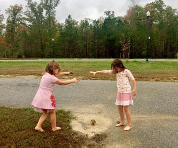 playing in the mud is the perfect playground