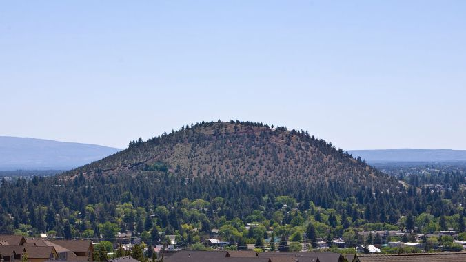 Pilot Butte is in Bend Oregon and has a great hiking trail to the top