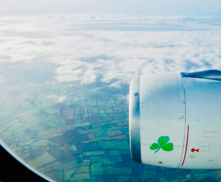 Landing in Dublin, Ireland for the beginning of our vacation!