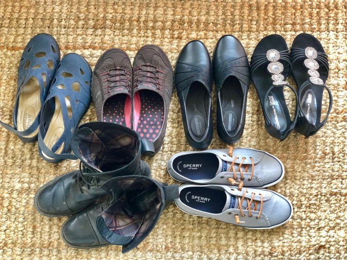 How do you decide which shoes to bring on a vacation?