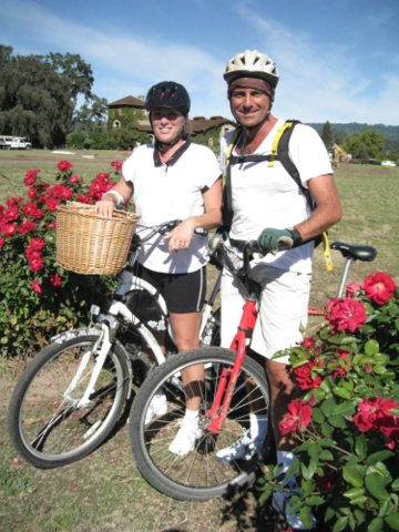 When I wasn't working, we would bike all over Napa Valley