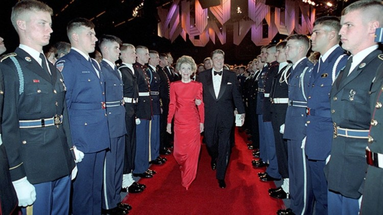 The Air Force Honor Guard at a Ronald and Nancy Reagan event