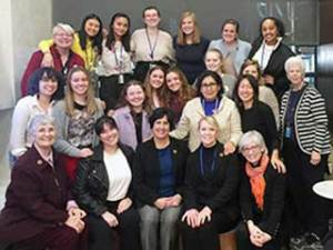 Gathering together are some of the more than 30 Loretto/BVM students, teachers, volunteers and guests who took part in the U.N.'s 63rd Commission on the Status of Women.