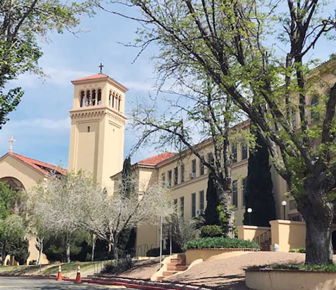 Rooms are available for volunteers at El Convento at Loretto Academy for a modest donation. (Photo courtesy of Vivian Doremus)