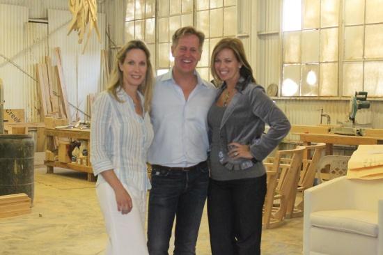 Celebrity Interior Designers Lori Dennis And Kelli Ellis With Rags Mike Ragan