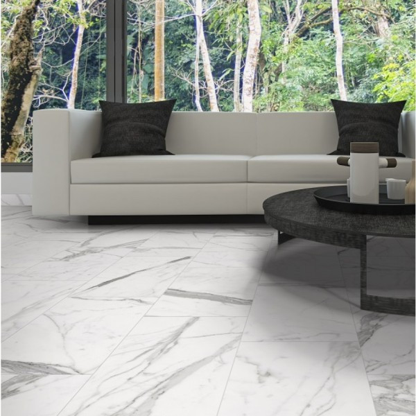 Porcelain Tile as Marble Tile Bar