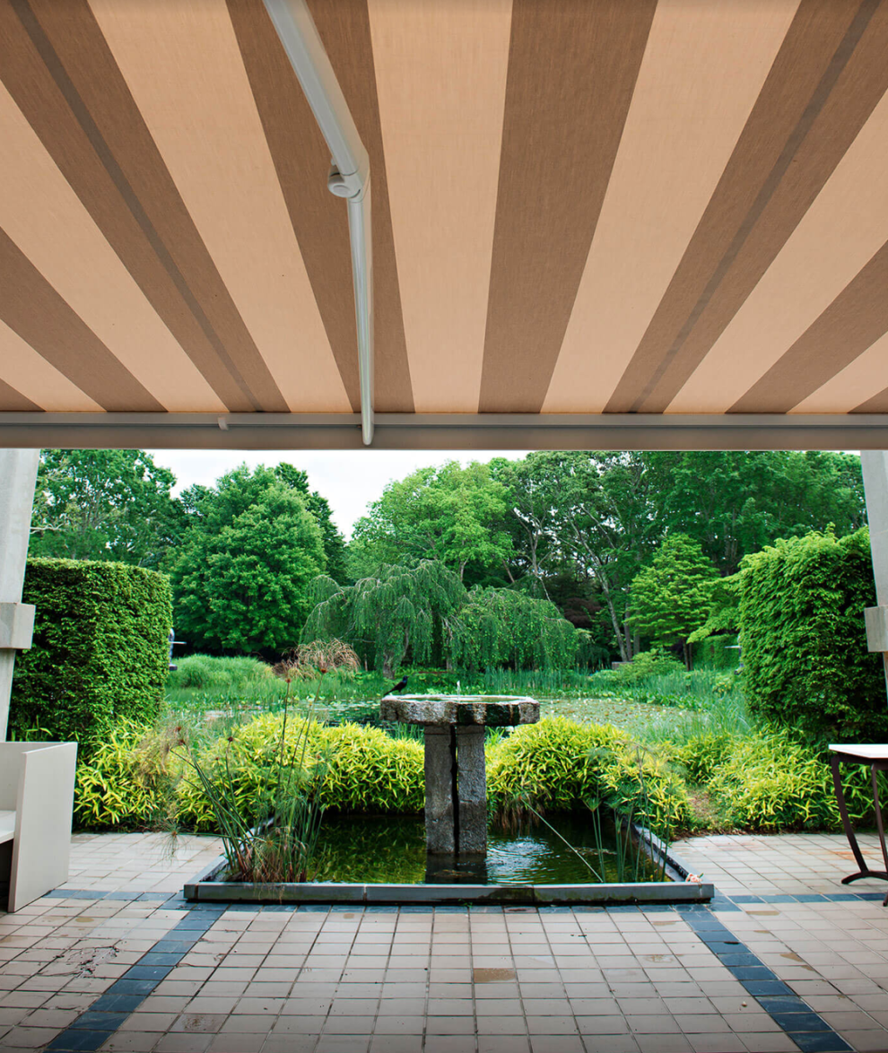 Sunbrella fabrics are used for the most durable and sustainable umbrellas, outdoor furnishings, and awnings! They're GREENGUARD® Gold Certified, OEKO-TEX® Certified, and have the Skin Cancer Foundation Seal of Approval. What we can expect to see: Durable outdoor fabrics, luxurious to the touch!