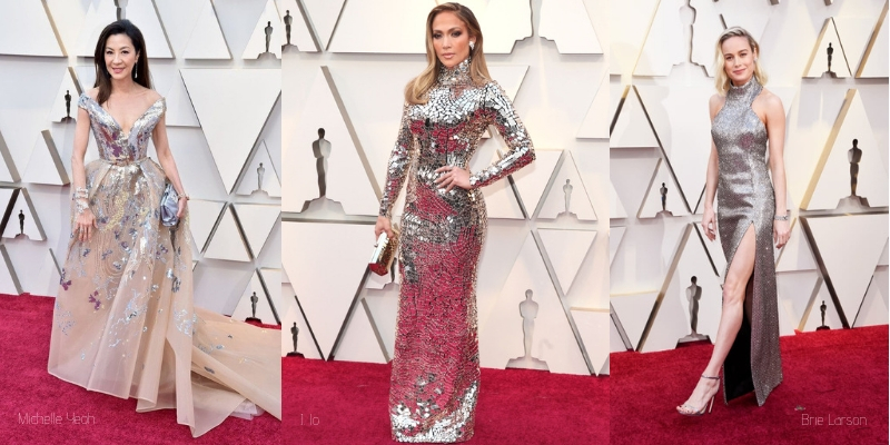 red carpet fashion: michelle yeoh, jennifer lopez, and brie larson at the oscars Diamonds head to Toe Glamour from the 2019 oscars red carpet