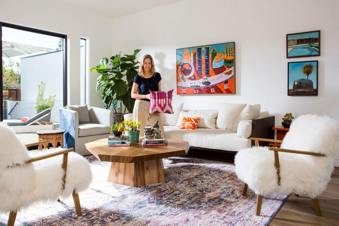 Lori Dennis designs the Venice Beach house around homeowners vibrant art collection