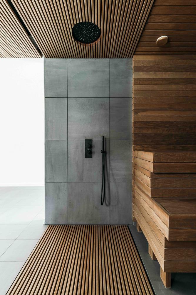 Modern Custom Home Sauna Design