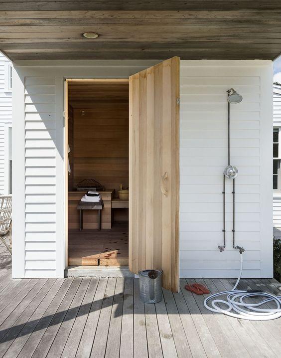 Outdoor Custom Home Sauna Design