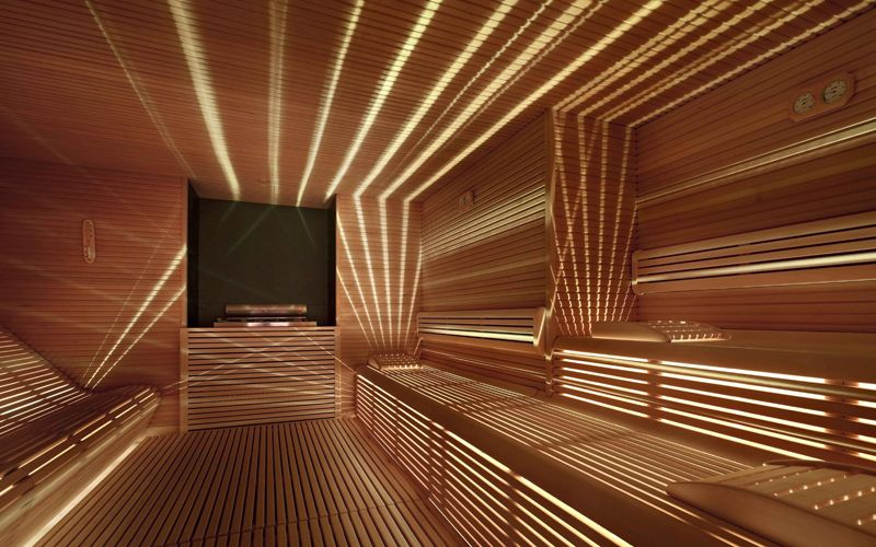 Custom Home Sauna Design Lighting Inspiration