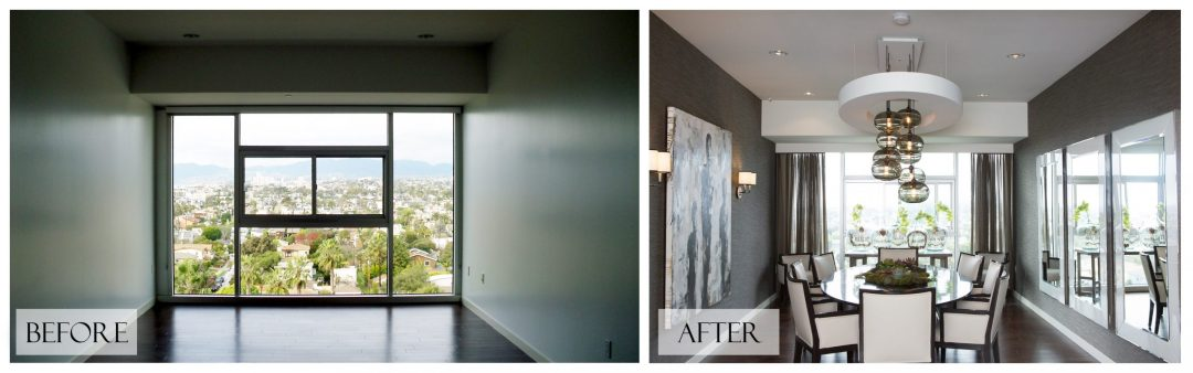 Top San Diego Interior Designer Lori Dennis Inc Before and After Dining Room