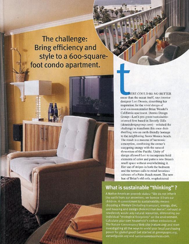 Celebrity Los Angeles Interior Designer Lori Dennis Small Room Decorating Magazine