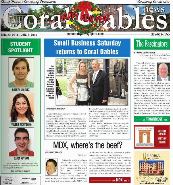 Coral Gable News Small Business Saturday Returns To Coral Gables Celebrity Interior Designer Lori Dennis