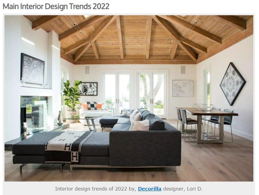 Expert Interior Design Firm Lori Dennis Inc featured in Decorilla's Top Design Trends for 2022