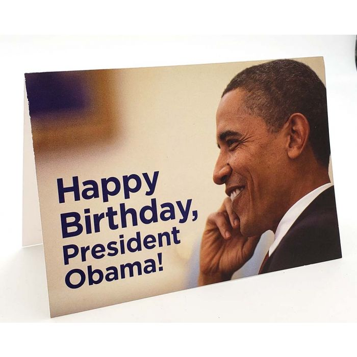 Barack Obama Campaign Birthday Card