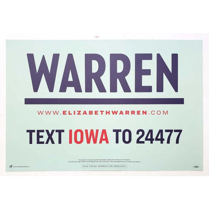 2020 elizabeth warren for president campaign rally poster