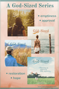 A God-Sized Series by Lori Schumaker - Surrendering ourselves and turning to the One source that can fill emptiness, heal approval addiction, restore our brokenness, and fill us with hope.