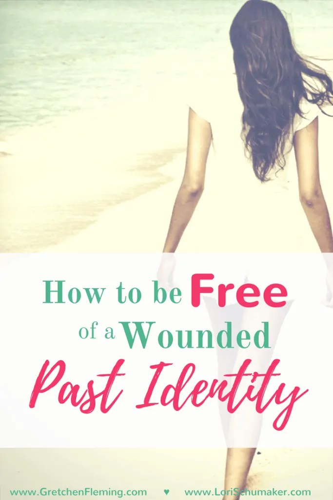 Merely covering up a wounded past identity doesn't work.How do we walk away and live free? -How to Be Free of a Wounded Past Identity by Lori Schumaker for Gretchen Fleming #ChosenandWorthy