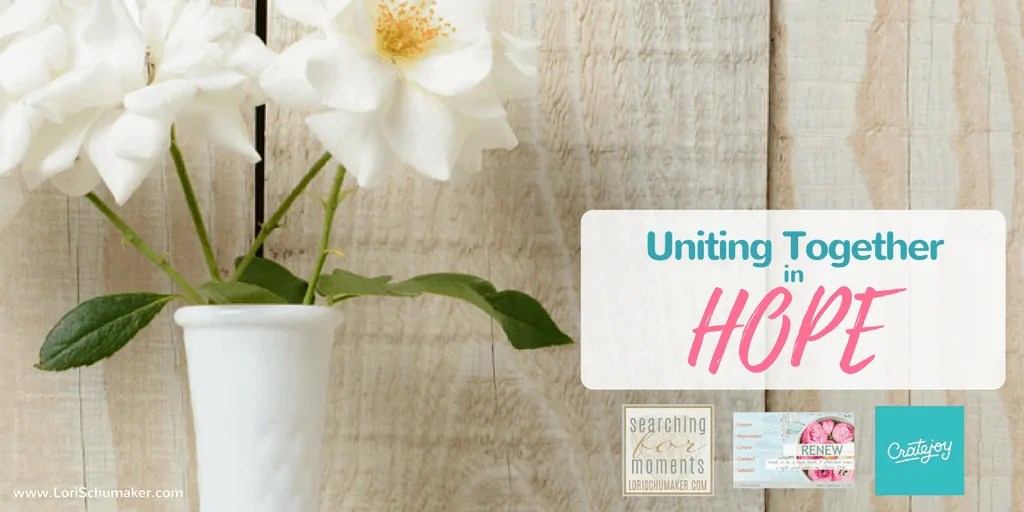 Uniting Together in Hope | Partnering with others to provide hope! #givingback