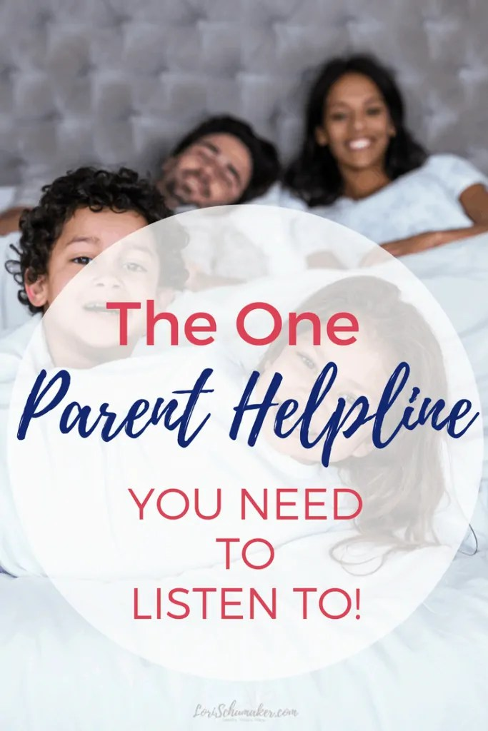 The One Parent Helpline You Need to Listen To | Do you find it overwhelming to listen to all the advice available today? Raising children is challenging, so how do we decide what to REALLY need to listen to? And how do we make sure we aren't missing the most important voice? #parentingadvice #parenthelpline #parenting #raisingchildren #newmoms