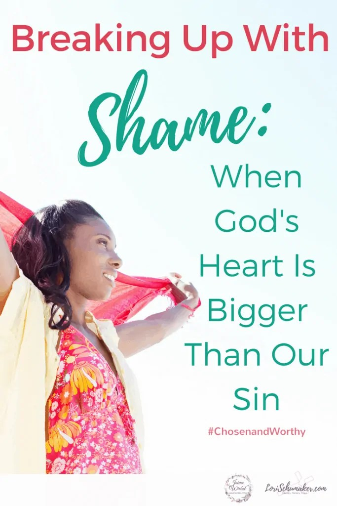 God's heart is for us. He longs for us to face the messiness of our sins and repent of them. Then run straight into His waiting arms where our shame is covered and our lives redeemed #Godsheart #Godslove #shame #identityinChrist #hope #forgiveness #chosenandworthy #momentsofhope #christianinspiration
