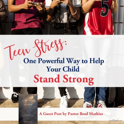 Teen stress is more prevalent than ever before and social media has a lot to do with that. How do we help them stand strong in their faith? How do we help them navigate beyond stress and overwhelm? #teens #teenstress #stress #socialmedia #parenting #biblestudy #hope #stormsoflife #identityinchrist #identity