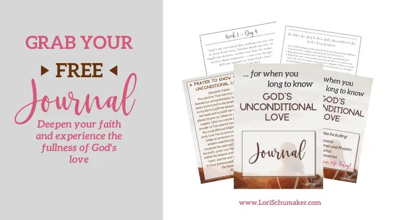 The Journal will help you deepen your faith and experience the fullness of God's unconditional love. A free supplement to the content provided in the original series.