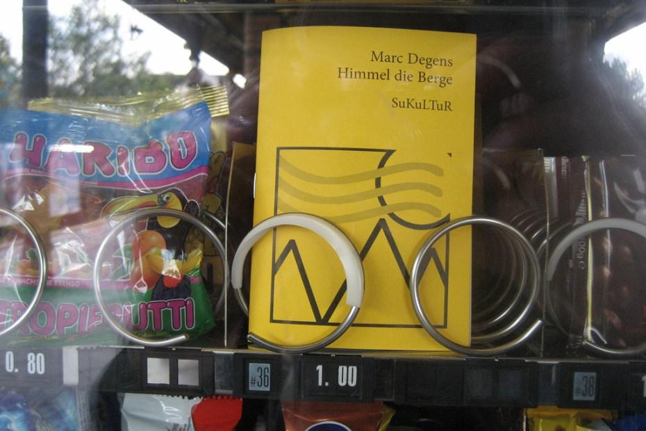 SuKuLTuR book in a vending machine